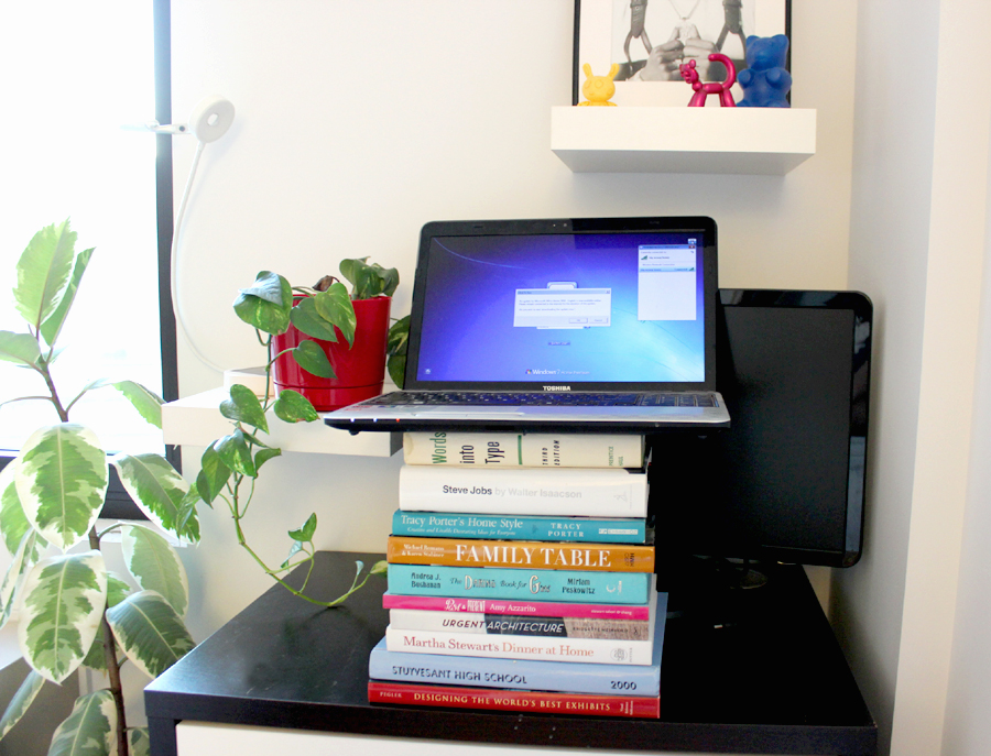 View In Gallery Diy Standing Desk Stacked B