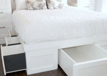 diy storage bed. Nora Of Oh Yes\u0027s DIY Storage Bed Is So Impressive That It\u0027s Nearly Impossible To Believe She Made It Herself. The Elevated Platform And Stairs Separate Diy I