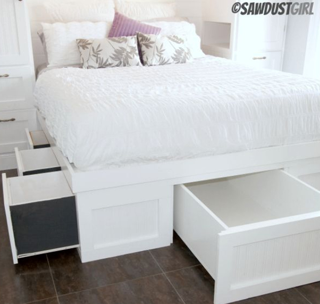 Custom Beginner: Guide Diy queen storage bed plans