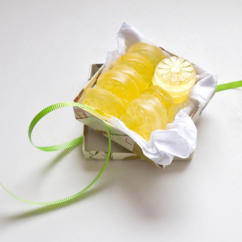DIY lemon rind soaps from Popsugar