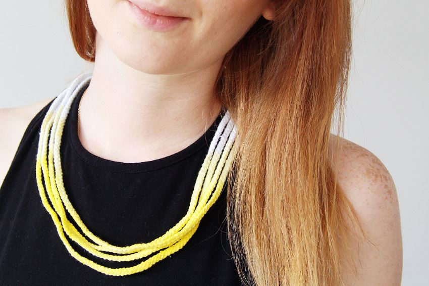 DIY ombre necklace from Brit + Co.