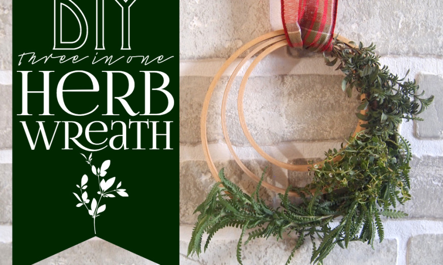 DIY 3-in-1 Herb Wreath That Also Smells Great