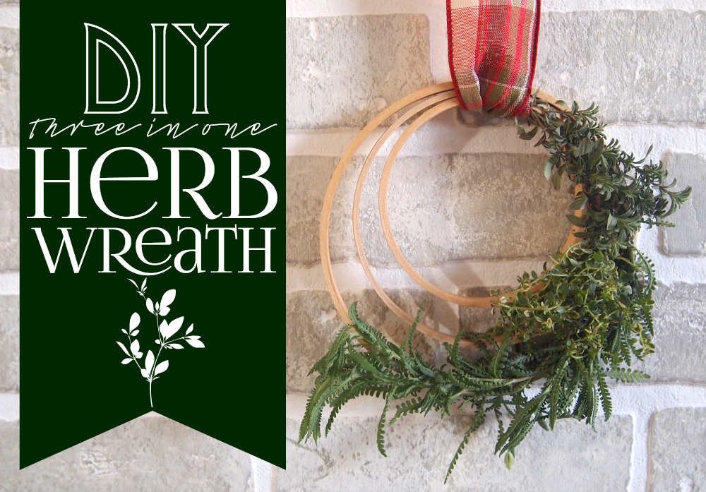 DIY three in one herb wreath DIY 3 in 1 Herb Wreath That Also Smells Great
