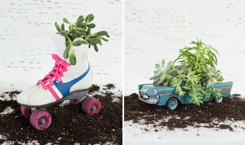 DIY vintage planter from Oh Joy Our Favorite DIY Holiday Gift Ideas