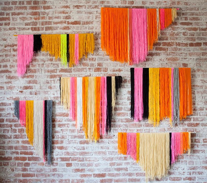 DIY yarn banner from Creativebug