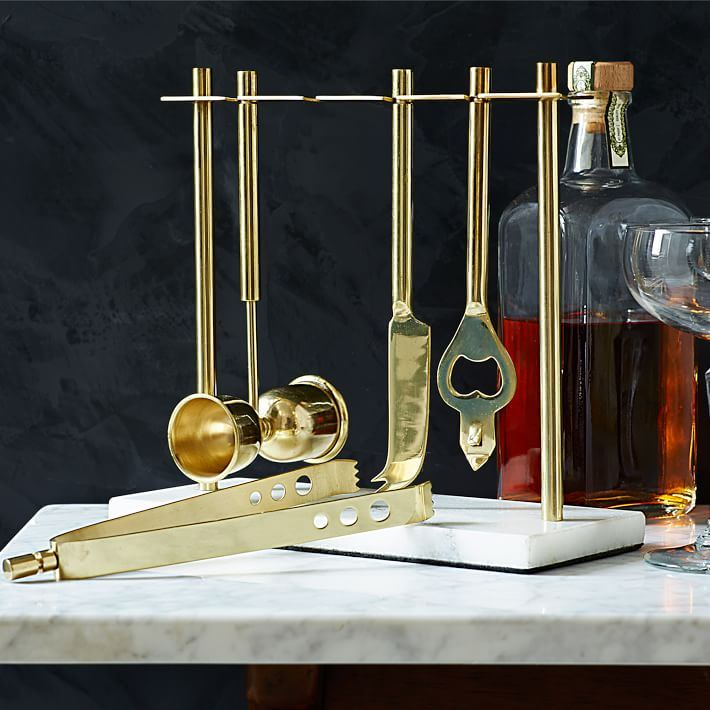 Deco barware collection from West Elm