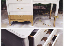 Desk with Gold Legs