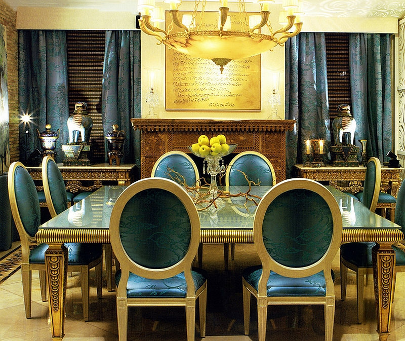 Dramatic and opulent dining room design [From: Coleccion Alexandra]