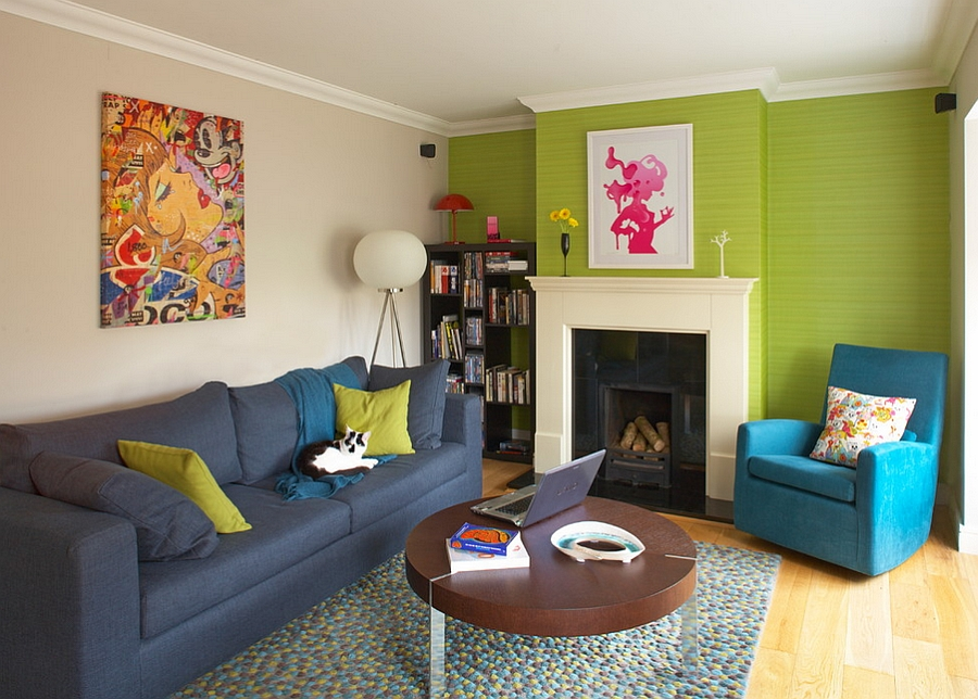 25 green living rooms and ideas to match for Quirky apartment design