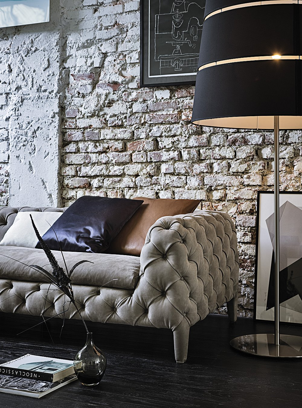 Eclectic living room with the Windsor couch