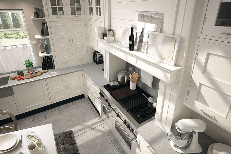 Elegant countertops that complement the timeless style of the kitchen