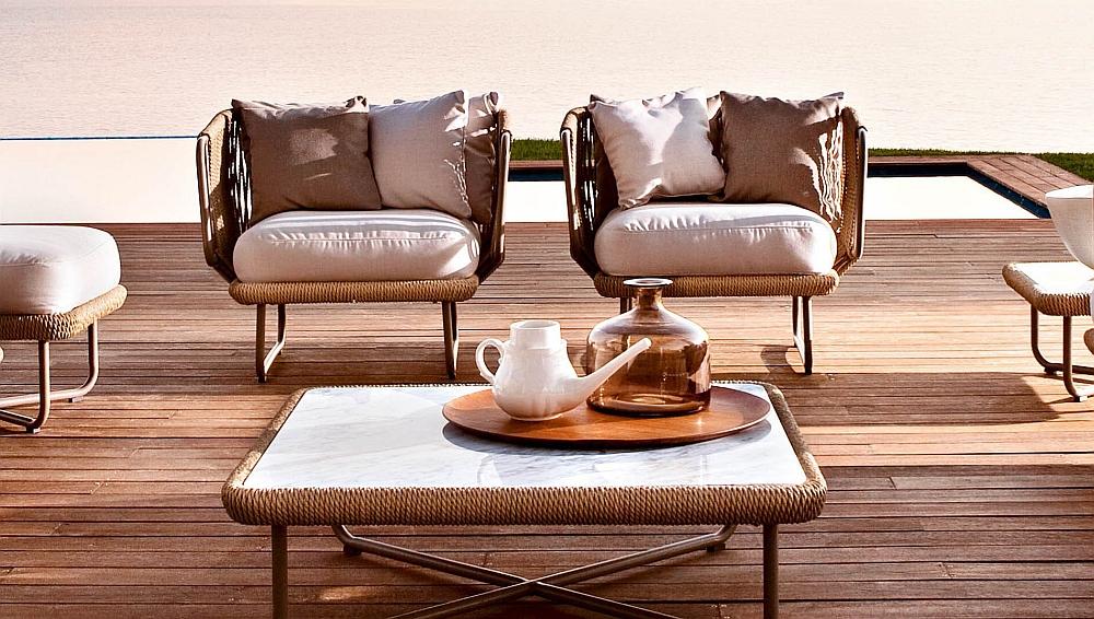 Elegant design of the Babylon outdoor chair