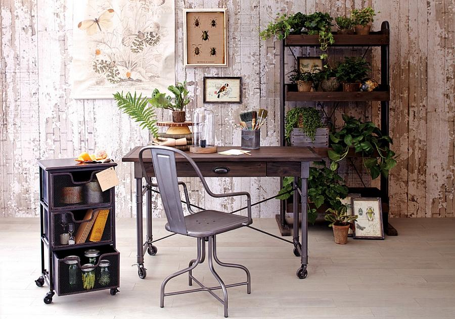 Elegant industrial chic home office [Design: Cost Plus World Market]