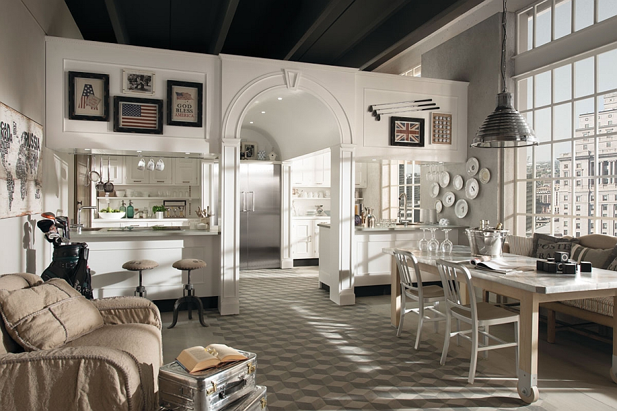 view in gallery exclusive montserrat kitchen from marchi versatile kitchen compositions blend the contemporary with the classic - Classic Contemporary Kitchens