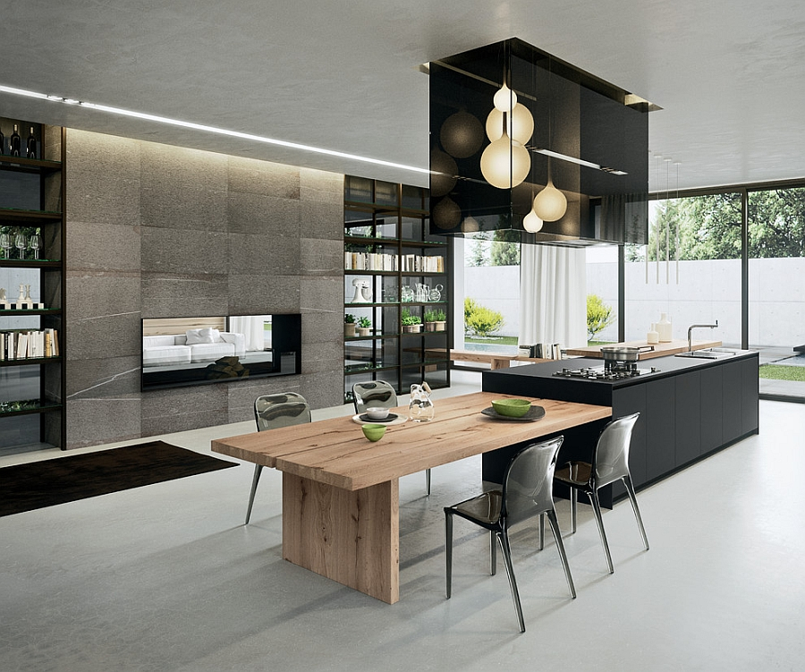 Sophisticated contemporary kitchens with cutting edge design for Table cuisine moderne design