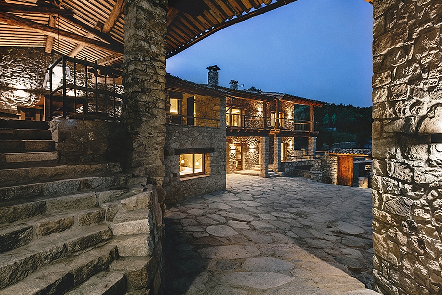 Fabulous Spanish home revitalizes old barn, stables and houses