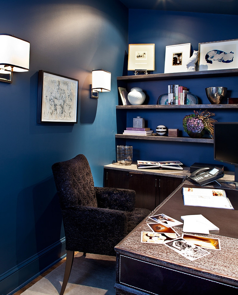Fabulous home office in blue