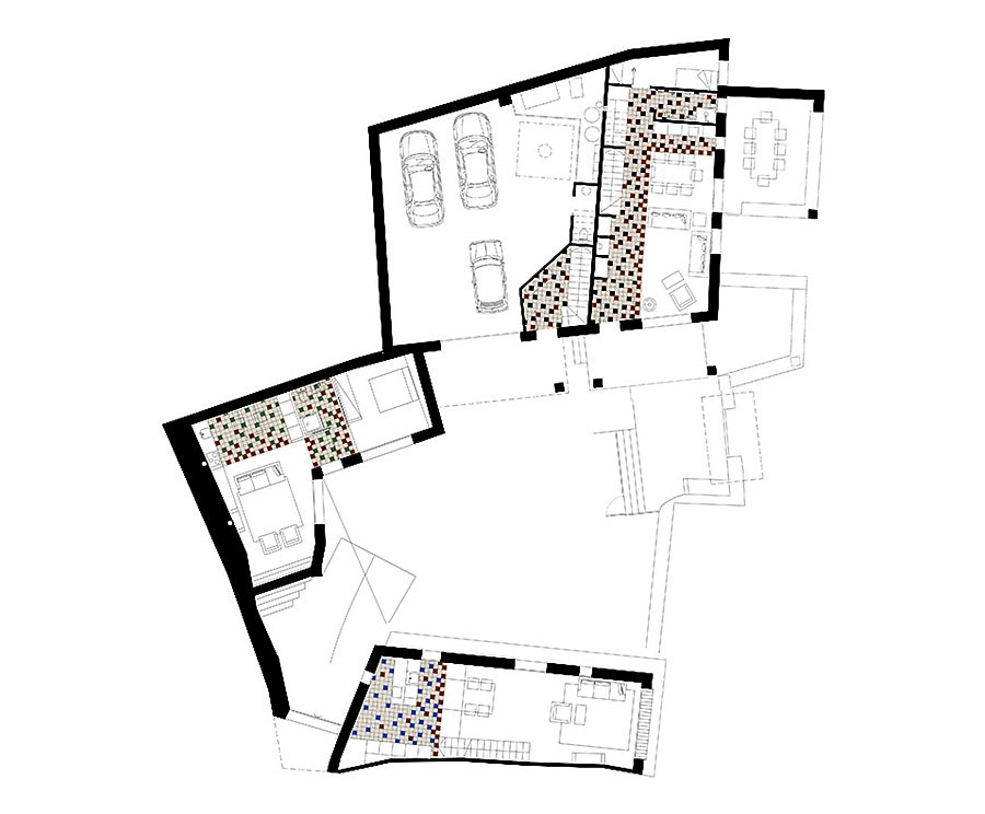 Floor plan of the amazing spanish renovation with a rustic touch