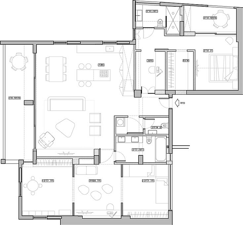 Floor plan of the apartment after renovation