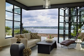 Classic Seattle Lakefront House gets a Bookish Modern Twist!