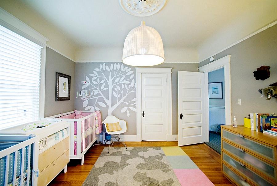 Gender neutral nursery for twins 21 Gorgeous Gray Nursery Ideas