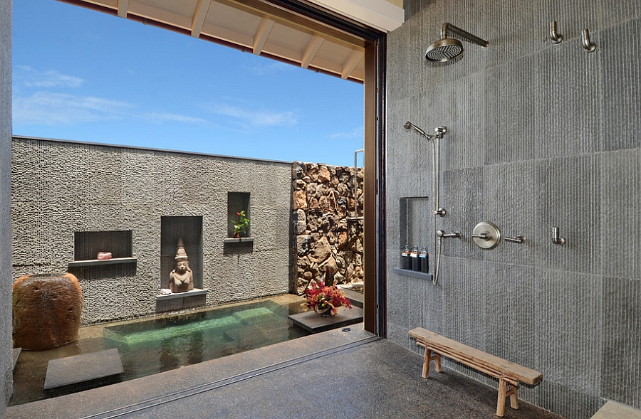 Give your existing bathroom a stunning extension outdoors [Design: Smith Brothers]