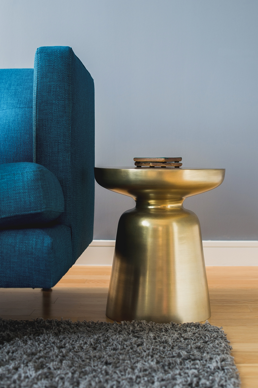 Glittering charm of the Martini Side Table in Gold