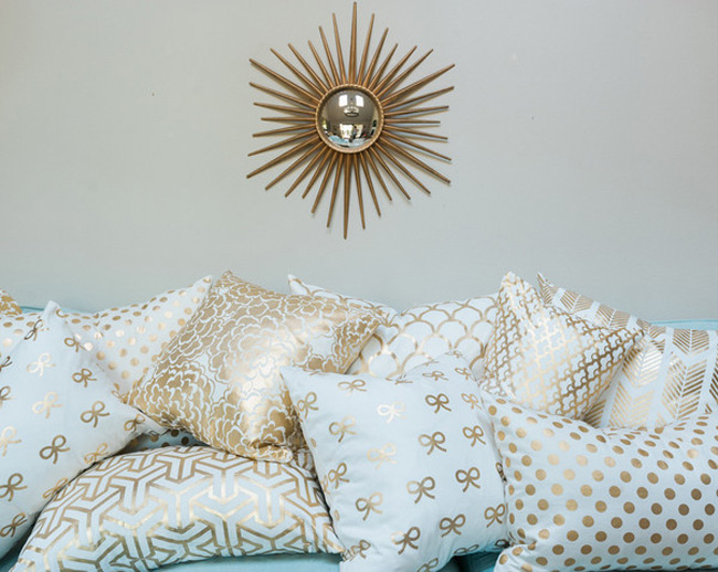 Gold Accent Pillows
