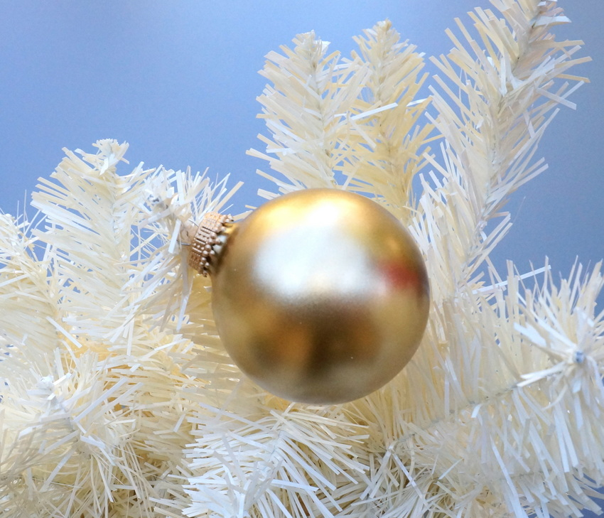 Gold Christmas ball ornament
