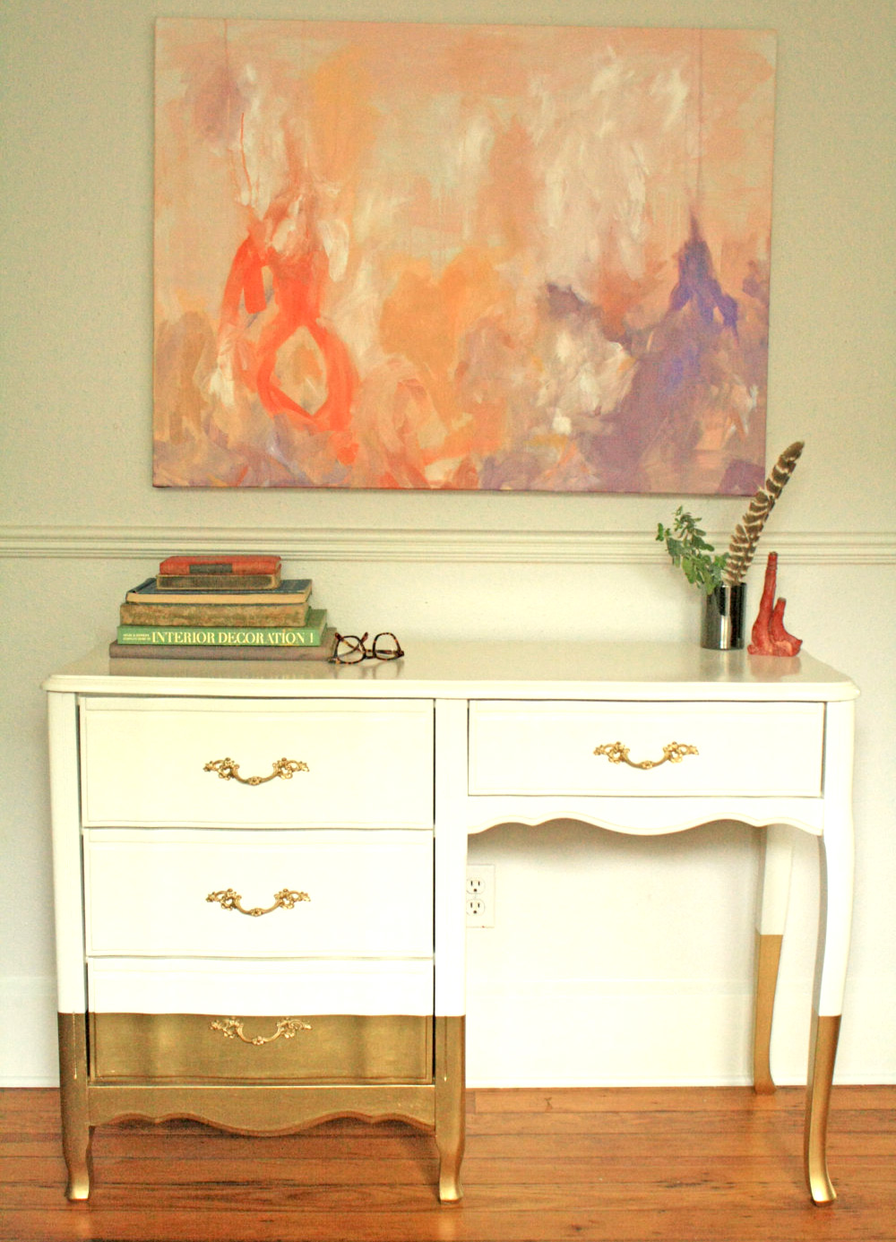 Gold Dipped Desk