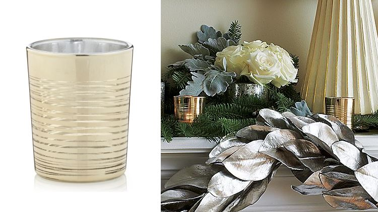 Gold ringed candle holder from Crate Barrel The Top Hostess Gifts for Fall and Winter