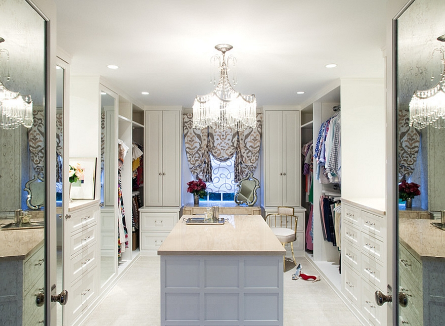 Gorgeous closet with a feminine touch