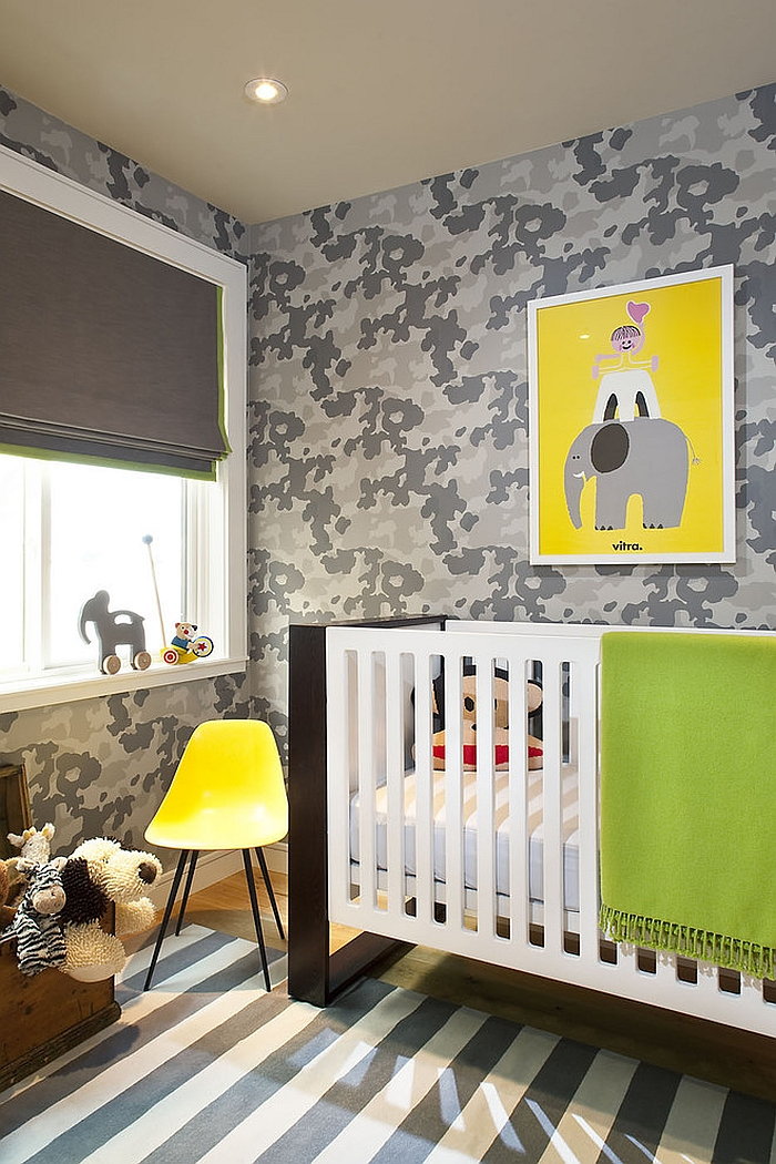 Gorgeous contemporary nursery in gray and white [From: Jute Interior Design]