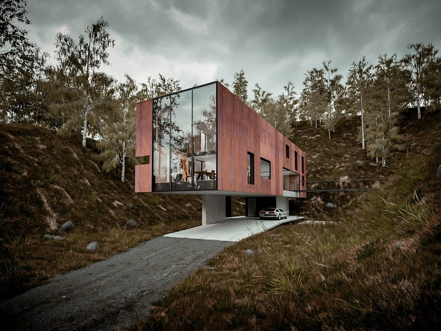 Gorgeous modern home built on a disused quarry