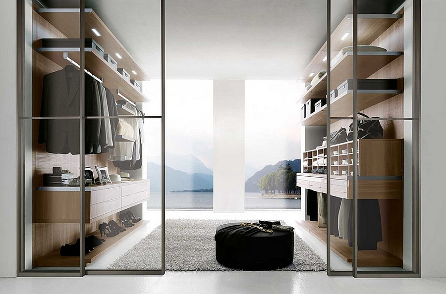 Gorgeous organized walk-in wardrobe serves all your needs
