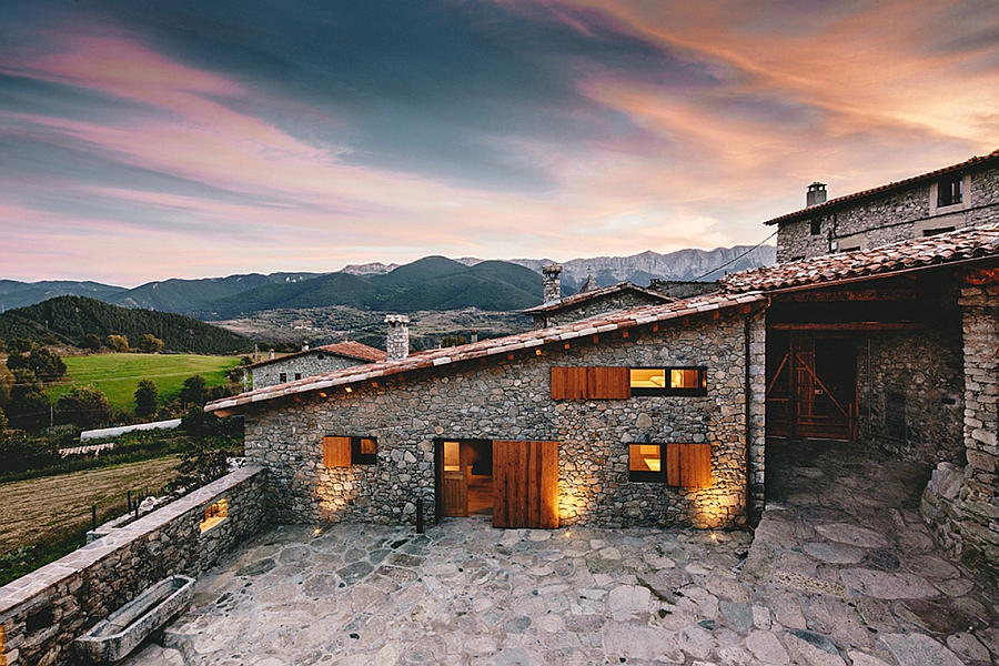 Gorgeous rustic home in La Cerdanya Spain Spanish Revival: Old Farmhouse Transformed into a Striking Modern Home