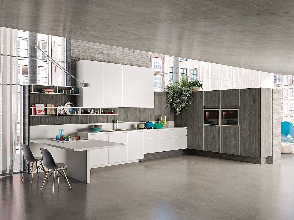 Posh kitchen compositions fuse modularity with minimal for Snaidero kitchen