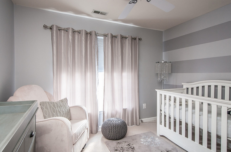 Gray With A Touch Of Silver In The Nursery Design Interior Style By Marisa