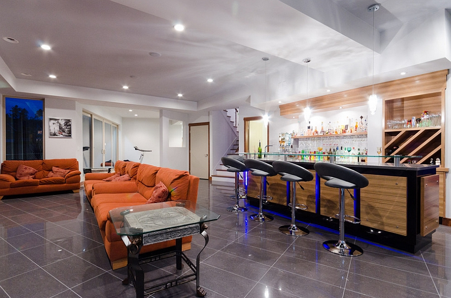 Great bar stools for the contemporary home bar [Design: U.K. Gill Homes]