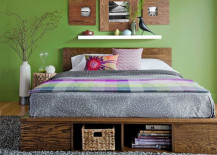 Green Room Wooden DIY Stora 217x155 8 DIY Storage Beds to Add Extra Space and Organization to Your Home