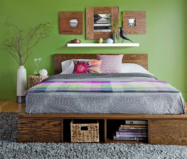 Green Room Wooden DIY Stora 8 DIY Storage Beds to Add Extra Space and ...