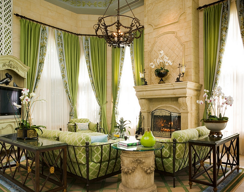 Green is a perfect pick for the traditional living room [Design: Susan Lachance Interior Design]