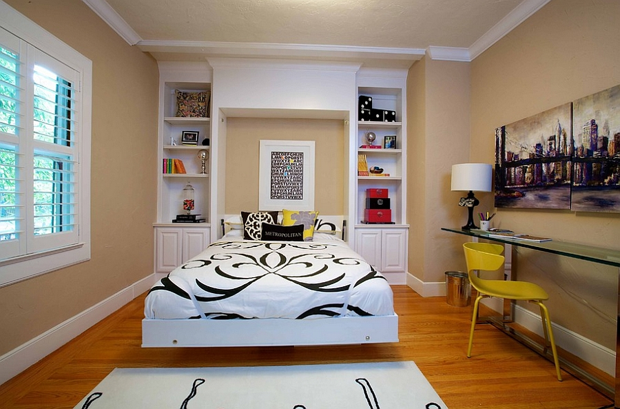 Peachy 25 Creative Bedroom Workspaces With Style And Practicality Largest Home Design Picture Inspirations Pitcheantrous