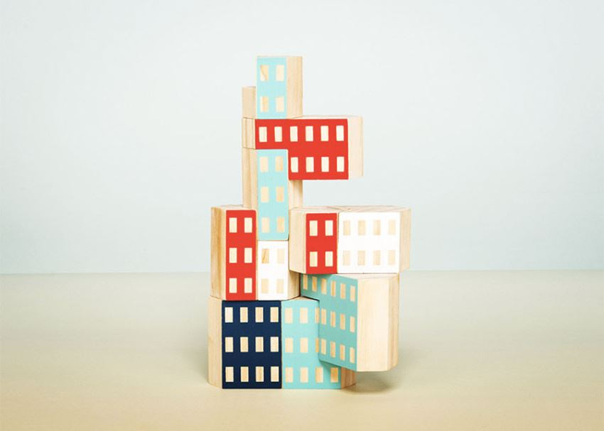 Hand painted nesting blocks