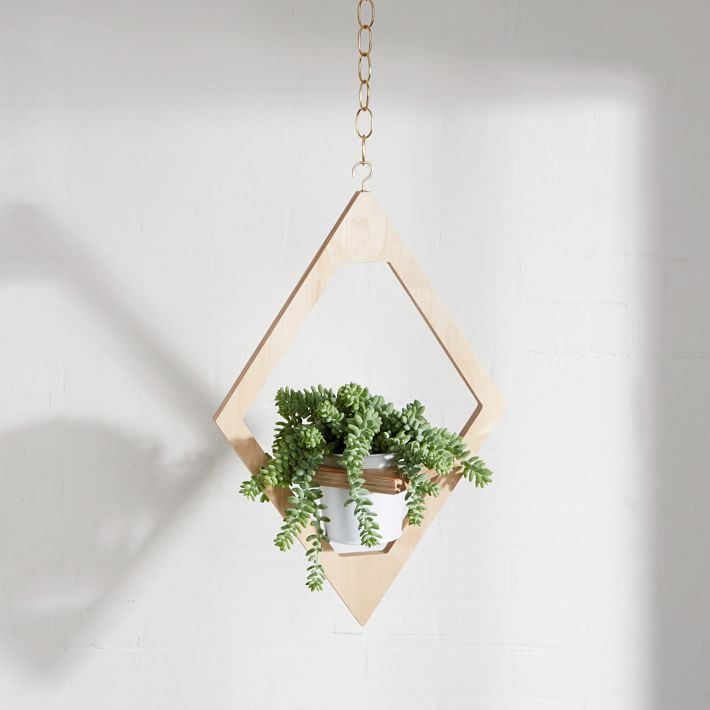 Hanging planter from West Elm