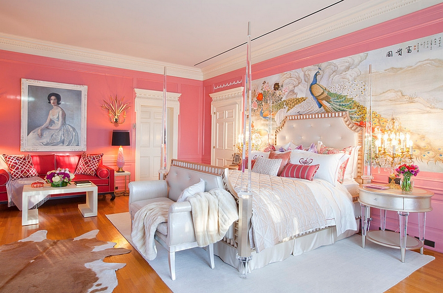 Hard to miss the focal point in this bedroom How to Decorate an Exquisite Eclectic Bedroom