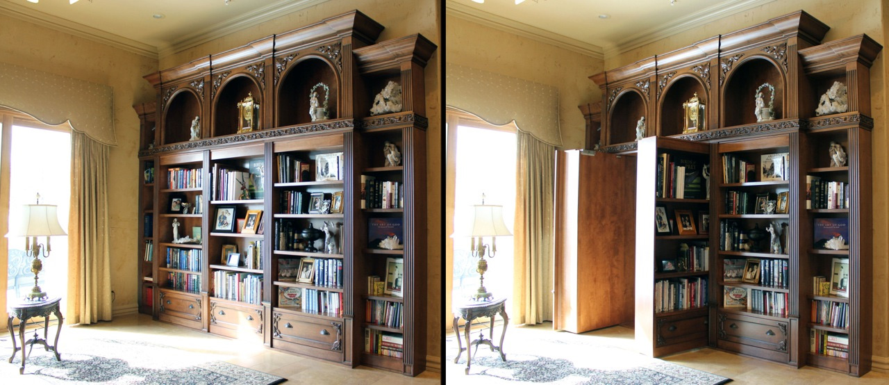 Hidden Door in Bookcase
