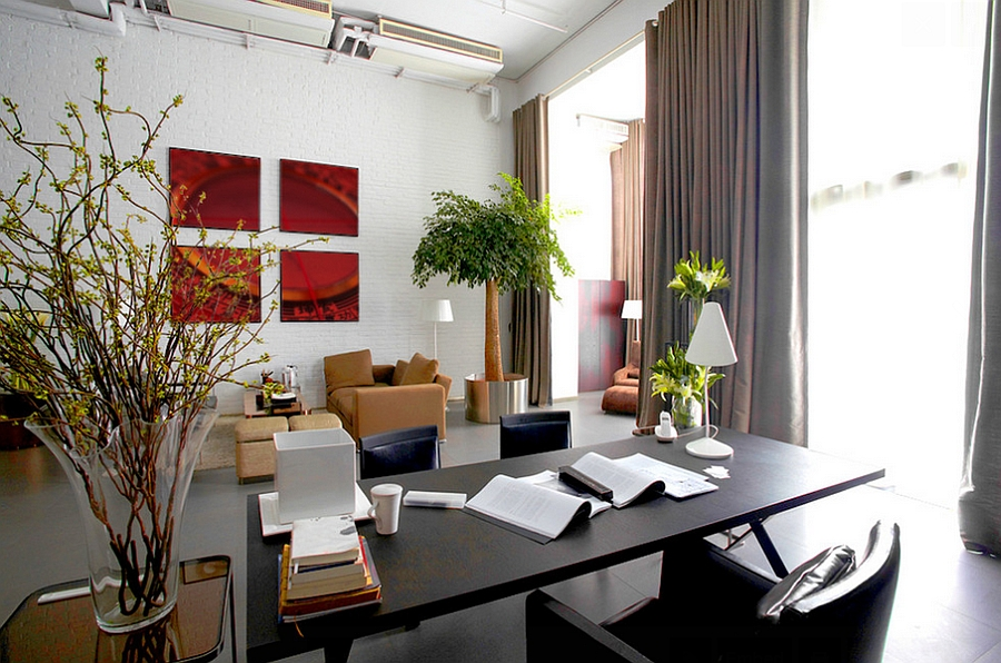 View In Gallery Home Office Design Filled With Positive Chi Feng Shui Living