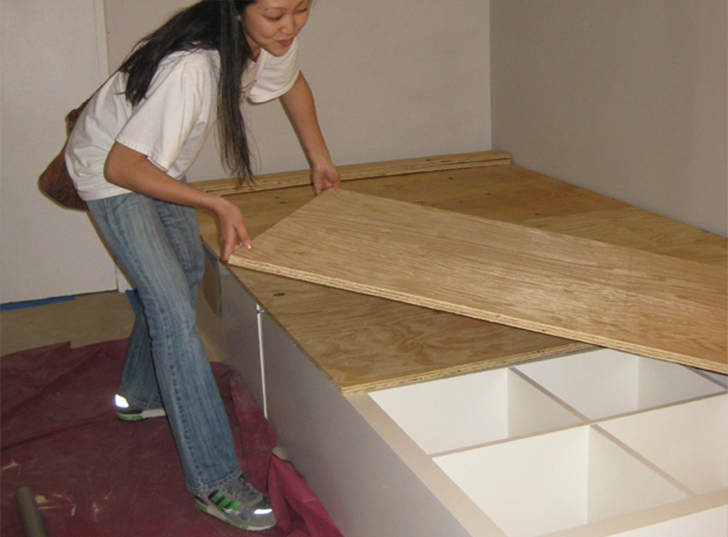 how to make a twin platform bed with storage