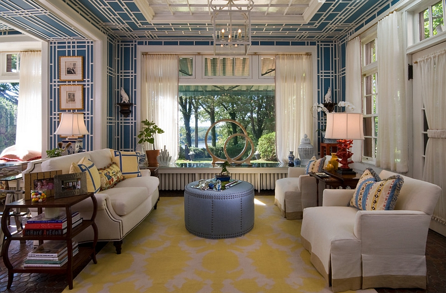 Innovative use of color in the eclectic living room [Design: Kathy Morgan]